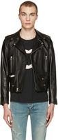 Saint Laurent Black Leather Biker Jacket