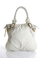 Stella McCartney Ivory Vegan Gold Tone Hardware Tote Handbag
