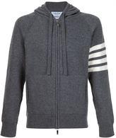 Thom Browne zipped hoodie - men - Cashmere - 0