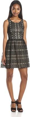 Minuet Women's Sleeveless Lace Skater Dress
