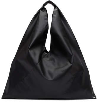 MM6 MAISON MARGIELA Black Large Faux-Leather Tote