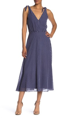 Betsey Johnson Polka Dot Sleeveless Midi Dress