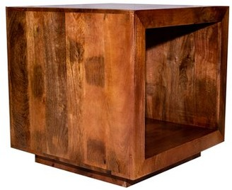 Millwood Pines Pegram Solid Wood Block End Table