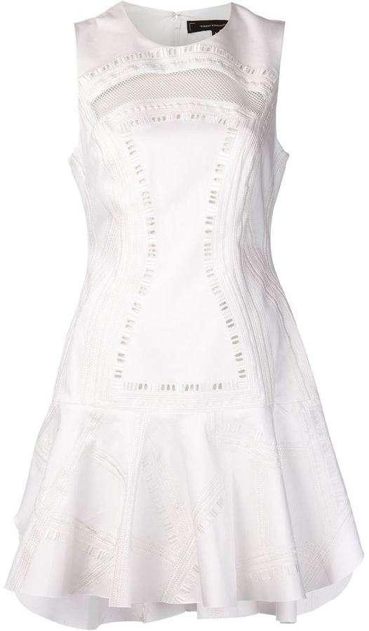 Robert Rodriguez embroidered flare dress