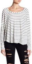Vintage Havana Striped Raglan Sleeve Back Zip Sweater