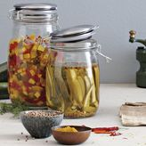 west elm Metal-Lidded Glass Jars
