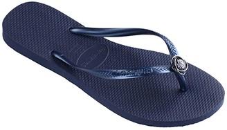 Havaianas Slim Crystal Rings Sandal (Black) Women's Shoes