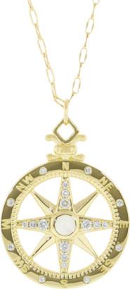 Monica Rich Kosann Global Compass Global Pendant Necklace