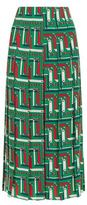 Gucci Printed Silk Pleated Skirt
