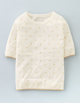 Boden Knitted Glitter Spot Top