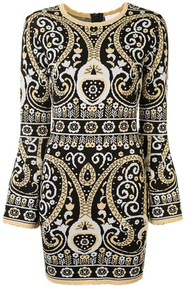 Alice McCall Adore intarsia knit mini dress