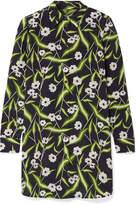 Equipment Brett Printed Washed-silk Mini Dress