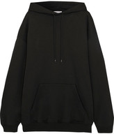 Balenciaga Oversized Cotton-jersey Hooded Top - Black