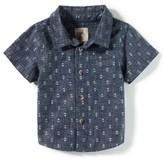 Boy's Peek Anchor Print Shirt