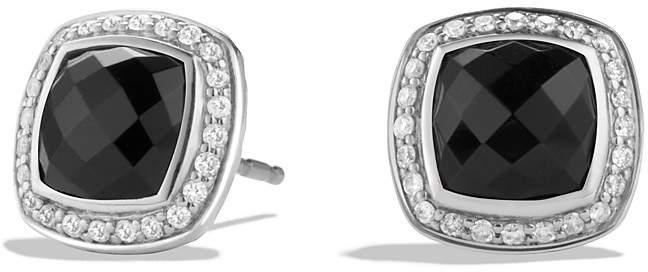 David Yurman Albion Earrings with Black Onyx and Diamonds