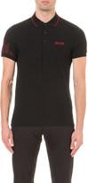 HUGO BOSS Logo-detail slim-fit cotton-jersey polo shirt