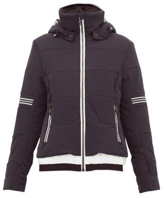 Toni Sailer Antonia Striped Soft Shell Ski Jacket - Womens - Black