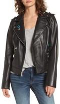 Sam Edelman Women's Grommet Detail Leather Jacket