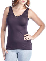 24/7 Comfort Apparel Two-In-One Knit Tank Top