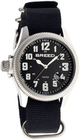Breed Silver & Black Angelo Swiss Watch