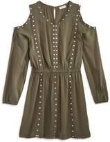 Splendid Girls' Cold-Shoulder Studded Dress