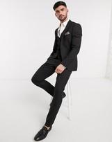 Harry Brown skinny fit plain suit pants