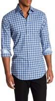 Thomas Dean Check Print Regular Fit Woven Shirt