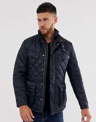 Barbour International Windshield quilt jacket with internal insert in navy