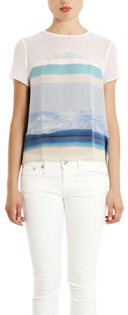 Charlotte Ronson Silk Printed Top