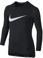 Nike Boy's 'Pro Combat Hypercool Compression Hbr' Long Sleeve T-Shirt