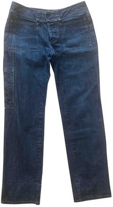 Gucci Blue Cotton Jeans