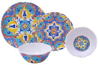 222 Fifth Romella Mixed 12 Piece Melamine Dinnerware Set