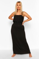 Thumbnail for your product : boohoo Plus Double Layer Strappy Maxi Dress