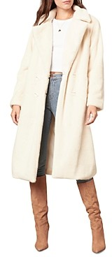 Cupcakes And Cashmere Celestia Faux Fur Trench Coat