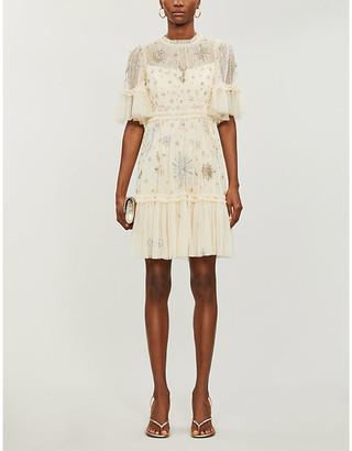 Needle And Thread Needle & Thread x Jasmine Hemsley Ether crystal-embellished recycled-tulle mini dress