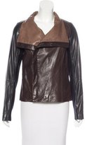 Vince Leather Colorblock Jacket