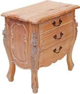 Hudson Furniture Bedside Tables Rococo Bedside Table, Weathered Oak