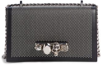Alexander McQueen Studded Leather Crossbody Knuckle Bag