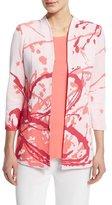 Misook Paint Splatter 3/4-Sleeve Jacket, Plus Size
