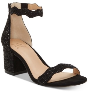 INC International Concepts Inc Hadwin Scallop Block-Heel Sandals, Created for Macy's Women's Shoes