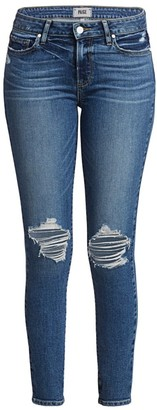 Paige Verdugo Mid-Rise Ankle Skinny Distressed Jeans