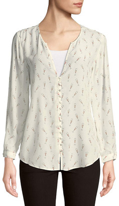 Joie Graphic Silk Top