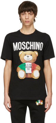 Moschino Black Italian Teddy Bear T-Shirt