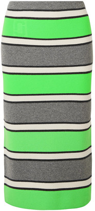Marc Jacobs Striped Cashmere Pencil Skirt