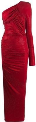 Alexandre Vauthier One-Shoulder Wrap Dress
