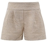 Chloé Ivory and Gold Tweed Shorts