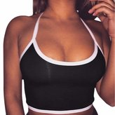 WINSON New Women Halter Bra Camisole Vest Tank Tops Bralette Blouse T Shirts Solid S-Xl
