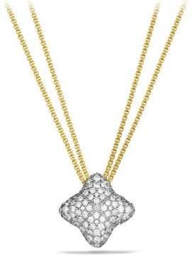 David Yurman Quatrefoil Pendant Necklace With Diamonds In 18K Gold
