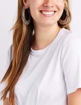 Charlotte Russe Textured Oversize Hoop Earrings