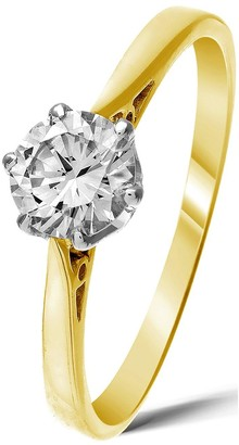 Love Diamond 9 Carat Yellow Gold 50 Point Solitaire Ring